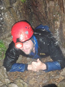 Close up of caving